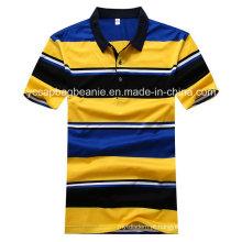 A camisa do T dos homens, listra dos homens Camiseta