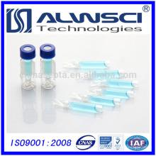 Envase de vidrio de muestra 250ul libre para el frasco de vidrio autoamplificador de 9-425 frasco de vidrio de 2 ml