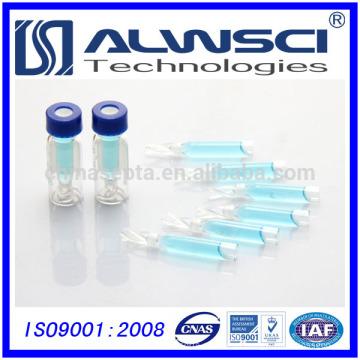 Fábrica de venda de vidro Inserção para frascos de frasco de 2 ml 9-425 frascos de extrusão automática com septo de silicone de PTFE