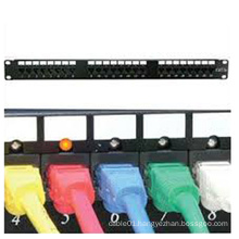 Utp cat6 led light patch panel