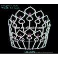 Gran corona de piedra corona gran desfile de promoción tiara boda tiara super corona fans tiaras de boda con estilo