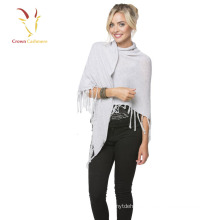 Breathable plain Pashmina Ladies Wrap Shawl