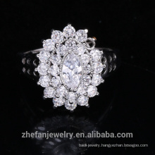 925 sterling silver jewelry wedding ring flower shape ring for women
