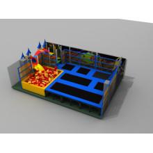 Fabricant professionnel Big Rectangular Kids Indoor Trampoline Park