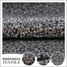 Chine Différents types de tissu tweed métallique Poly tweed