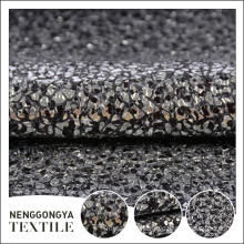 China Different kinds of Poly tweed metallic tweed fabric
