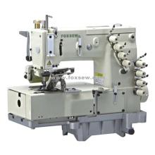 máquina de coser de 4 agujas cama plana doble cadeneta (para al frente de la camisa)