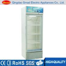 Vitrina del refrigerador de la exhibición de la bebida de la puerta de cristal 158L Refrigerador