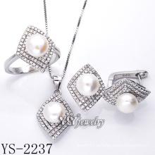 Ювелирные изделия перлы высокого качества установленные 925 серебряные (YS-2237)