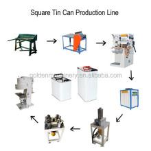 Rechteckige Blechdose Eimer Herstellung Produktionslinie