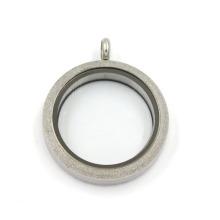 Серебряная матовая 316L из нержавеющей стали ювелирные изделия стеклянные плавающие Locket