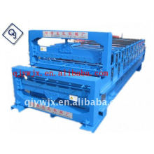 HOT!!! QJ 850/860 automatic double layer color steel sheet roof tile metal folding machine China
