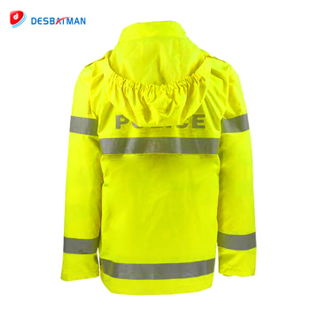 New design hot sale fashionable high visibility fluorescent safety rainsuit