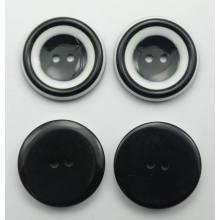 Venta por mayor moda nueva ronda resina acrílica botones para ropa