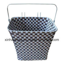 Promotion Plastic Rattan Bicycle Basket for Bike (HBK-116)