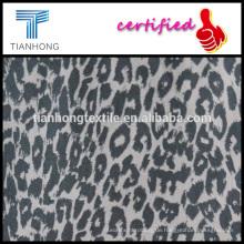 das ganze Jahr laufen Leopard Druck 97 Baumwolle 3 Elasthan Twill weben Lycra Stoff für slim Pants