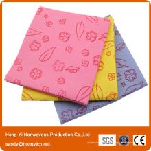 De Bonne Qualité, tissu de nettoyage non-tissé absorbant superbe de tissu, tissu de nettoyage perforé par aiguille de viscose