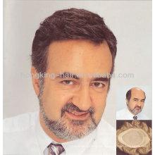 Toupee para hombre sistema de reemplazo de cabello humano