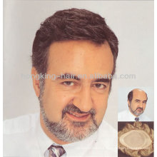 Toupee for men human hair replacement system