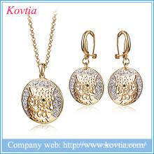 Jóias de luxo set moda dubai ouro leopardo cabeça jóias conjunto África mulheres e conjuntos de jóias sexo animal