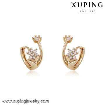 94213 Xuping neue Designs mit Blumenform Nachahmung Diamant Hoop Ohrring