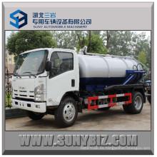 Isuzu 700p 10000L 190HP Camión cisterna de succión de aguas residuales de vacío