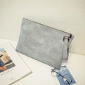 Senaste Ladies Elegance Leather Stor Trendy Clutch Bag