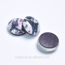 Пользовательские популярные сексуальные девушки портрет печатных кристалл стекла магниты на холодильник для рекламных подарков