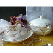 round shape ceramic porcelain table set for hotel restaurant