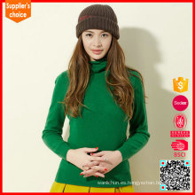 Cuello alto del suéter del mohair de las mujeres de la manera al por mayor