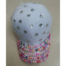 Latest women baseball hat white sun visor cap