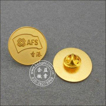 Round Golden Badge, Personalizado Organizational Lapel Pin (GZHY-LP-047)