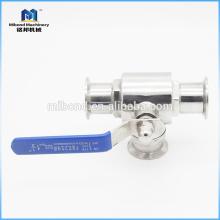 """Novo produto de 2 vias tri-clamp 1/2 """"válvula de esfera de aço inoxidável"""