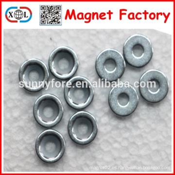 imán disco fuerte N35 diámetro 10mm agujero 4 mm