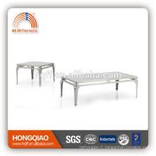 Table de CT-09ET-09coffee dans les tables d'extrémité de table de thé en acier inoxydable de dessus de table en verre