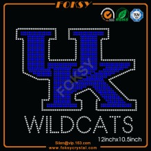 Wildcats UK letters personalized rhinestone t shirts