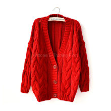 Gestrickte Damen Frauen Hanf Blumen Bat Cardigan Cape Coat Sweater