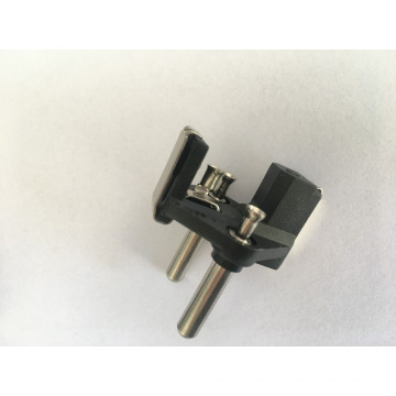 turkey plug inserts with hollow brass pins( vde approved 10/16a two-pin cable
