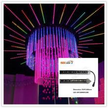 Imperméable DMX RVB verticale LED tube tube