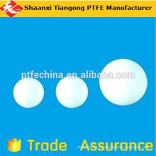 Pelota suave ptfe, bola blanca de plástico de 12mm, bola blanca de 6mm ptfe