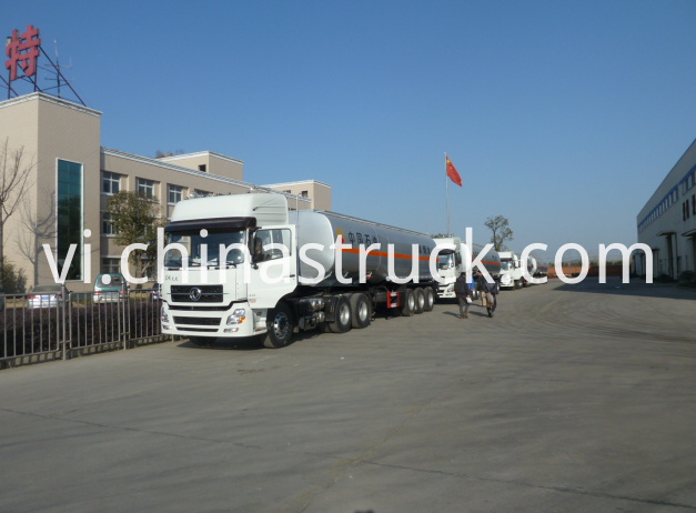 Petrol station 50M3 oil tank semi-trailer