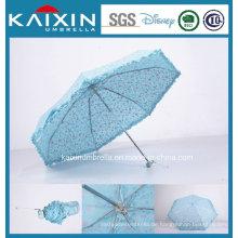 Blaue Farbe Outdoor Geschenk Faltender Regenschirm