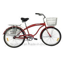"""con cesta delantera y trasera 26 """"bicicleta de playa (FP-BCB-C051)"""