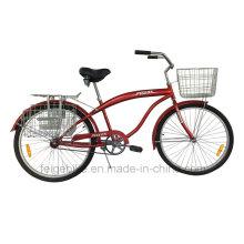 """com a cesta dianteira e traseira 26 """"bicicleta da praia (FP-BCB-C051)"""