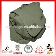 Military Green Canvas Shoulder Bag Messenger Bag for Men