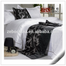 High Grade Jacquard Fabric Star Hotel Used King Size Bed Scarf Supplier