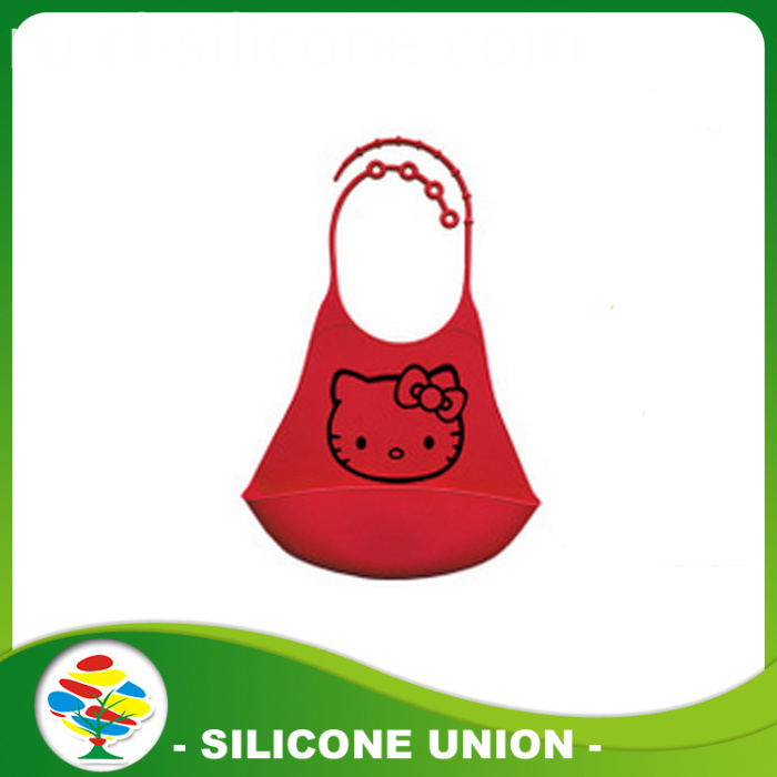 red silicone bibs