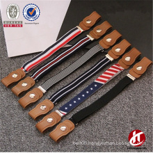 New Fashion Layout Custom Colorful Elastic Kids Belts with Convenient Interlock Buckle
