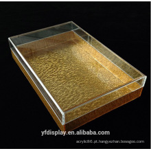 Bandeja acrílica ouro sob medida