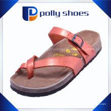 Красный Flip Flop мужчин PU сандалии и пробки туфель